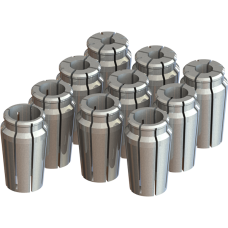 "1"" Capacity Acura-Flex Collet Set - 10pc"