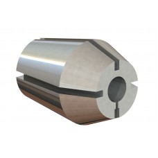 1-1/2 Capacity (XZ) Double Taper Collet - Hole Size 51/64""